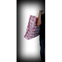 Sacola/saco De Feira Extra Grande Sacoleira C/ziper P/roupa