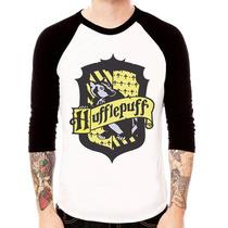 Camisa Blusa Raglan 3/4 Harry Potter Lufa Lufa