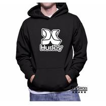 Moletom Hurley Masculino E Feminino 02 Blusa De Frio Canguru