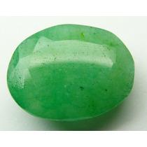 Esmeralda 100% Natural Oval Verde Alface 5.20 Cts!