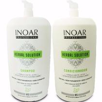 Kit Salão Inoar Herbal Solution Shampoo E Condicionador 3 L