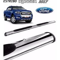 Estribo Oval Aço Inox Cromado Ford Nova Ranger 2017 Dupla