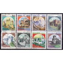 Itália - Castelos - Acumulação Com 8 Selos