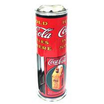 Porta Canudo Em Alumínio Estampado Coca-cola Bar Lanchonete
