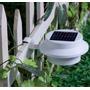Luminária Solar 3led Cerca E Beiral, Calha Jardim Muro Sitio