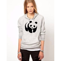 Blusa Panda Moletom Canguru