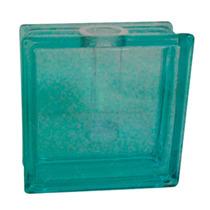 Vaso Quadrado Quasar Azul Em Vidro