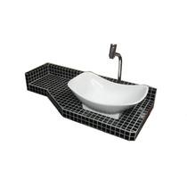Tampo De Pastilha De Vidro - Preta - Banheiro/lavatório