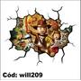 Adesivo De Parede Rachadura 3d Lego Indiana Jones Will209