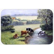 Vacas Bebendo No Creek Banco Cozinha Ou Banho Mat 20x30 Bdba