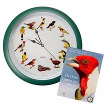 Relógio De Parede Canto Dos Passaros Dalgas I - Verde Novo