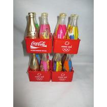 Coleção Coca Cola 16 Mini Garrafas Olimpiadas Atenas 2004