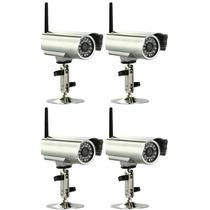 Kit 4 Camera Ip Externa Wireless Blindada Audio Internet P2p