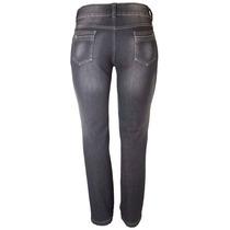 Calça Jeans Preta Feminino Cós Alto Tamanho 50 Ref 1497