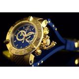 Lindo-Relogio-Invicta-5515-Dourado-Azul-Promocional-Original