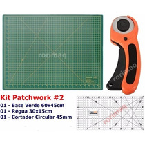 Kit Base De Corte + Régua + Cortador Patchwork Scrapbook #2