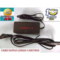 Fonte Teclado Yamaha Psr620 Psr630 Psr640 Cabo Longo 3 Mts