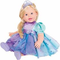Boneca Charmosa Princesa Loira Cotiplás 45cm