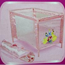 Kit Berço + Carrinho Brinquedo Bonecas Princesas Disney
