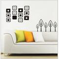 Adesivo Decorativo Parede Sala Quarto Floral Abstrato Vidro