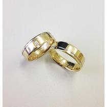 Aliança De Casamento Ouro E Diamante