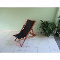 Cadeira Preguiçosa De Madeira Sem Braço