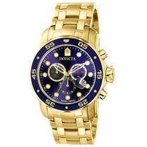 Relógio Invicta 0073 Pro Diver 48mm Fundo Azul