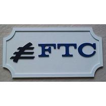 Placa Logo Ferreomodelismo Ferrovia Tereza Cristina