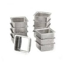 Kit 12 Formas Pão De Mel Quadradas Alumínio Resistente