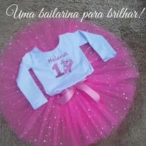 Bailarina Conjunto Personalizado Com Saia E Collan