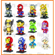 Herois 8 Bits Lego Batman Spiderman Wolverine Iron-man Thor