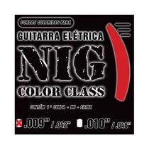 Cordas Nig P/ Guitarra Color Class N1631 .009/.046 Vermelho