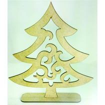Arvore De Natal Mdf Cru Com Base Pinheiro
