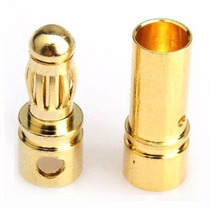 Conector Plug Gold Bullet Banana 3.5 Motor Brushless 3.5 Mm