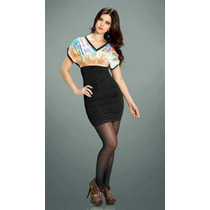 Vestido Feminino Drapeado Curto Sensual Entrega Imediata