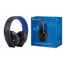 Headset Stereo Wireless Gold Sony Ps4 Ps3 Vita Lacrado