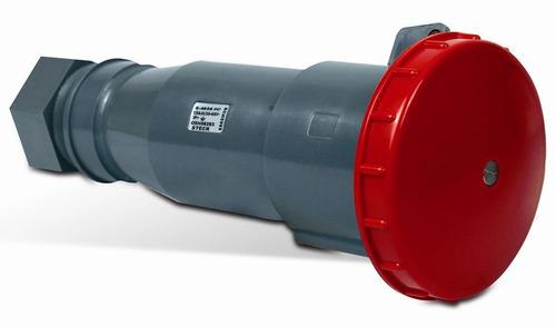 Acoplamento 3p+t 63a 380v 6h Vermelho S - 4556 - Steck