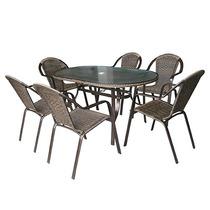 Conjunto Jardim Mesa Com 06 Cadeiras Aluminio Kalahari Mor