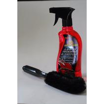 Kit Escova Para Lavar Rodas + Limpa Rodas E Motor Autoshine