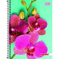 Caderno 1 Matéria 96 Fls Linha Mais+ Feminino Orquídea 2016