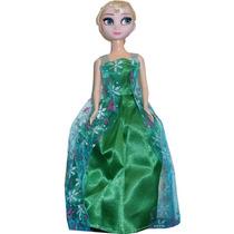 Boneca Frozen Dança E Canta Led Elsa Princesa Disney