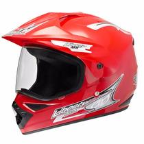 Capacete Motocross Liberty Mx Vision Vermelho 60 C/ Viseira