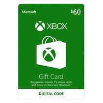 Microsoft Gift Card Cartão Xbox Live $60 Us Dólares Imediato