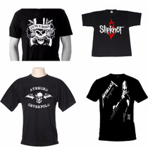 Camisetas Bandas Rock - Camisas Guns,slipknot,metallica,a7x