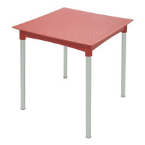 Mesa Plástica Design Ratan Vermelha Laura - Tramontina