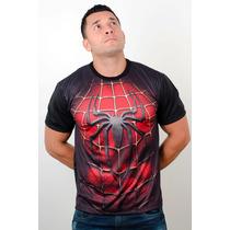 Camisetas Super Heróis Academia Treino Homem Aranha