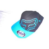 Boné Fox Riders Flexfit Preto/azul