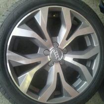 Roda Aro 17 Audi A6 5x112 Diamantada Com Grafite