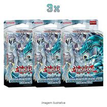 Yugioh! Combo 3x Deck Saga Do Dragão Branco De Olhos Azuis