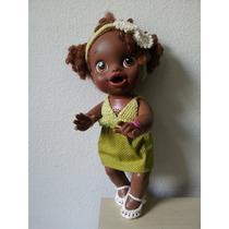 Roupinha De Crochet E Pano Verde Para Boneca Baby Alive